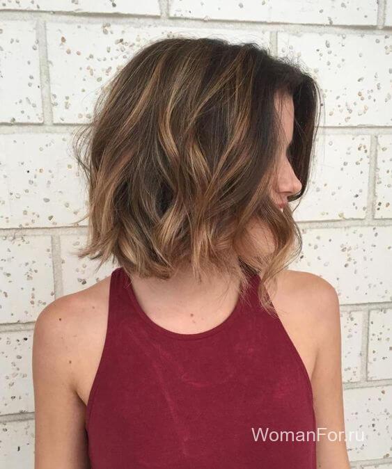 Челка длинная на коротких волосах
