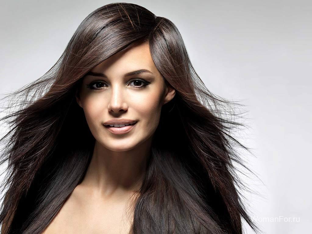 Красивые волосы с челкой длинные