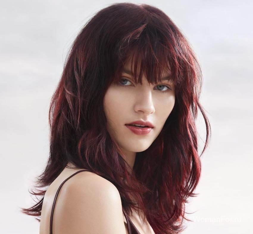Красивые волосы с челкой