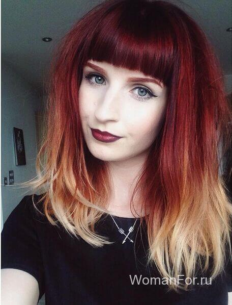 Красивые волосы с ровной челкой