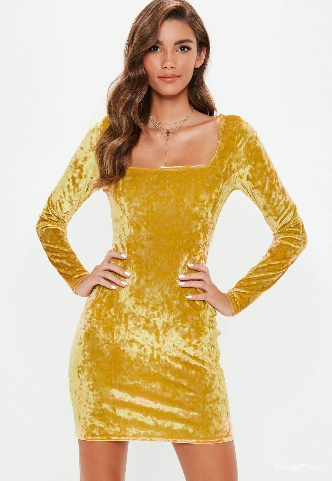Платье - золотой вильвет на Новый год