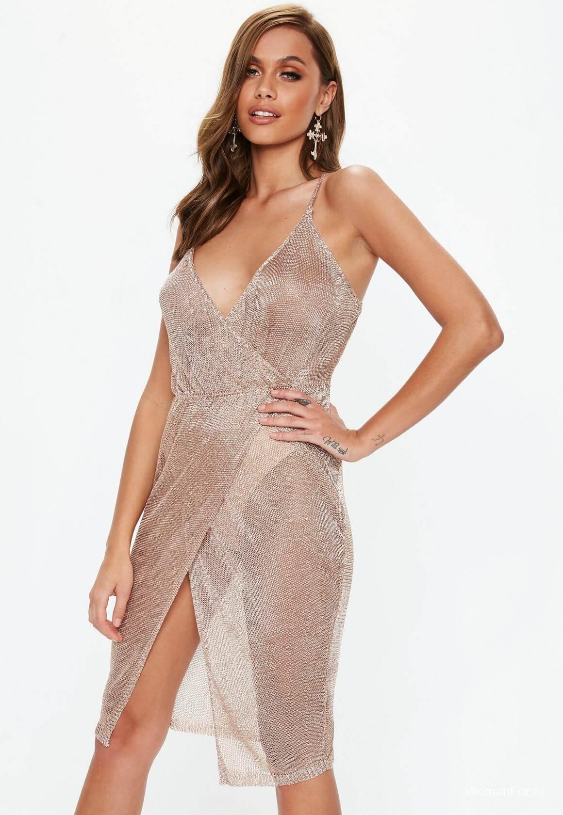 Сетка платье на Новый год